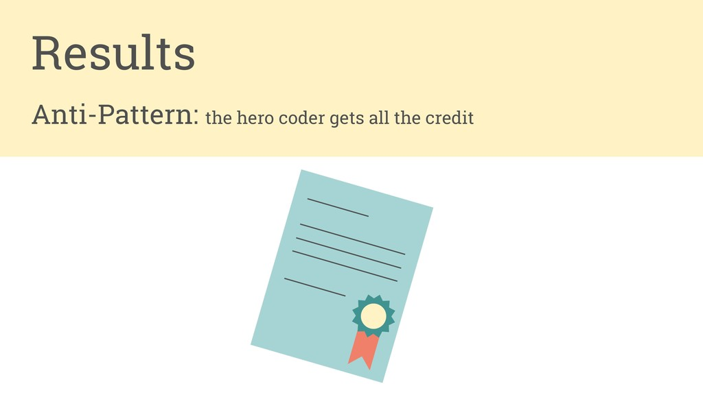 Anti-Pattern: the hero coder gets all the credi...