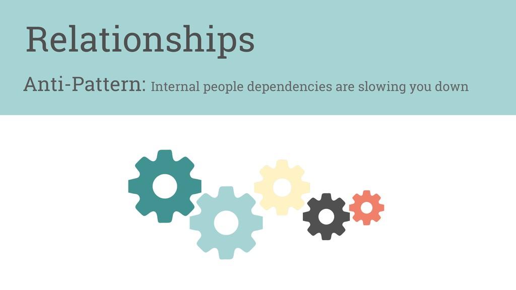 Anti-Pattern: Internal people dependencies are ...