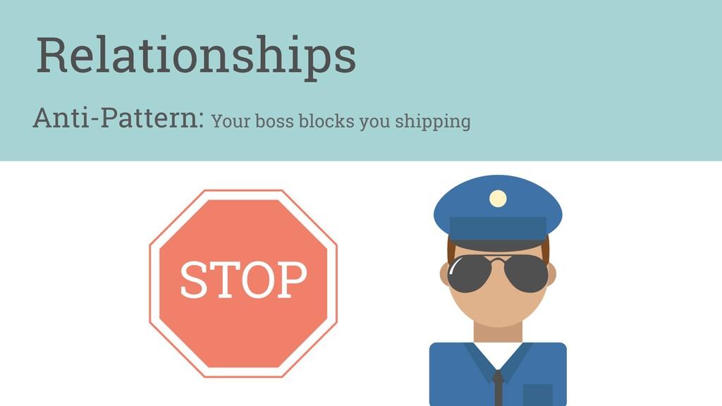 Anti-Pattern: Your boss blocks you shipping Rel...