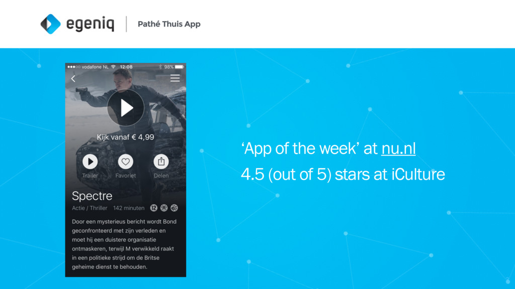 Pathé Thuis App 'App of the week' at nu.nl 4.5 ...