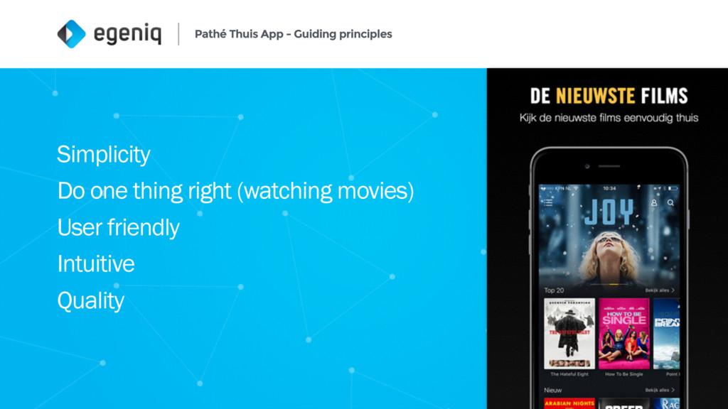 Pathé Thuis App - Guiding principles 4 Simplici...
