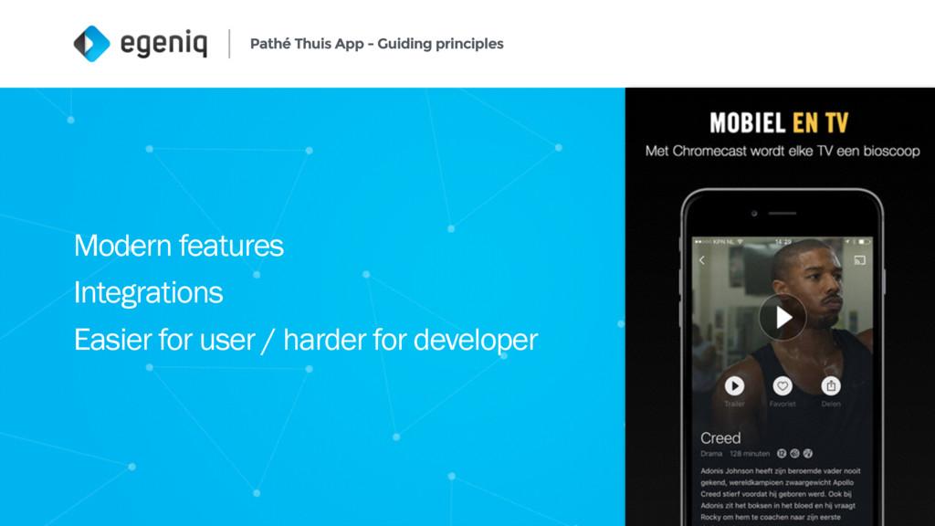 Pathé Thuis App - Guiding principles 5 Modern f...