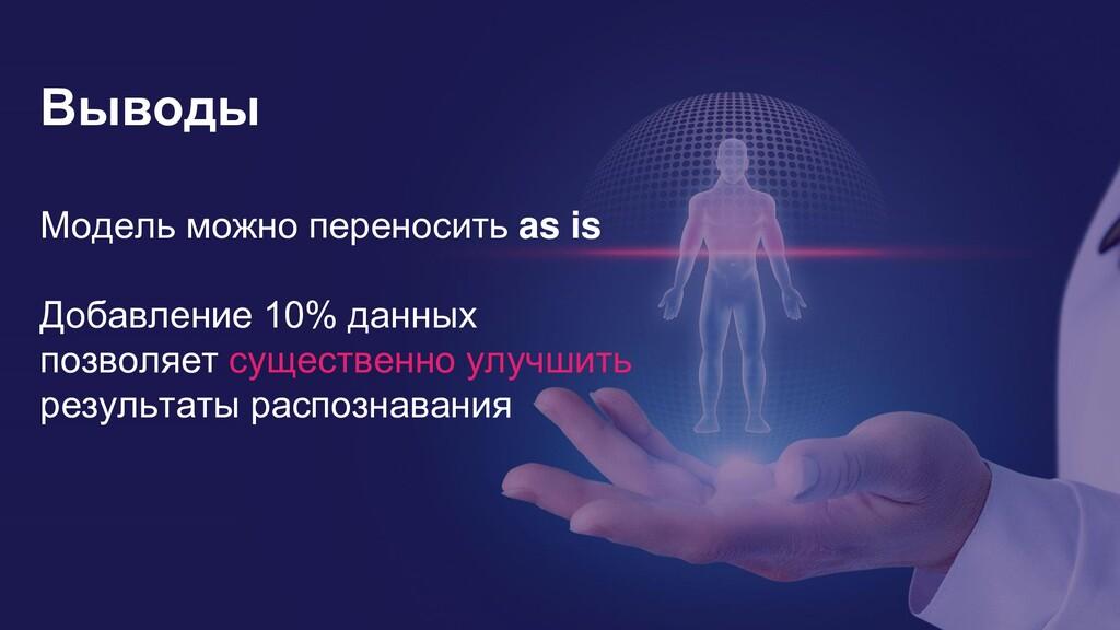 13 Выводы Модель можно переносить as is Добавле...