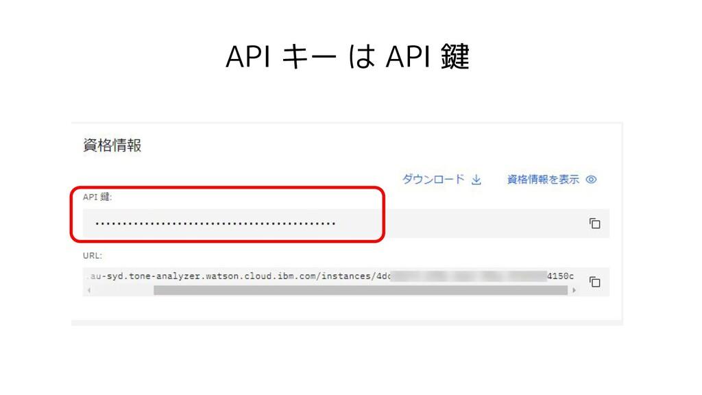 API キー は API 鍵