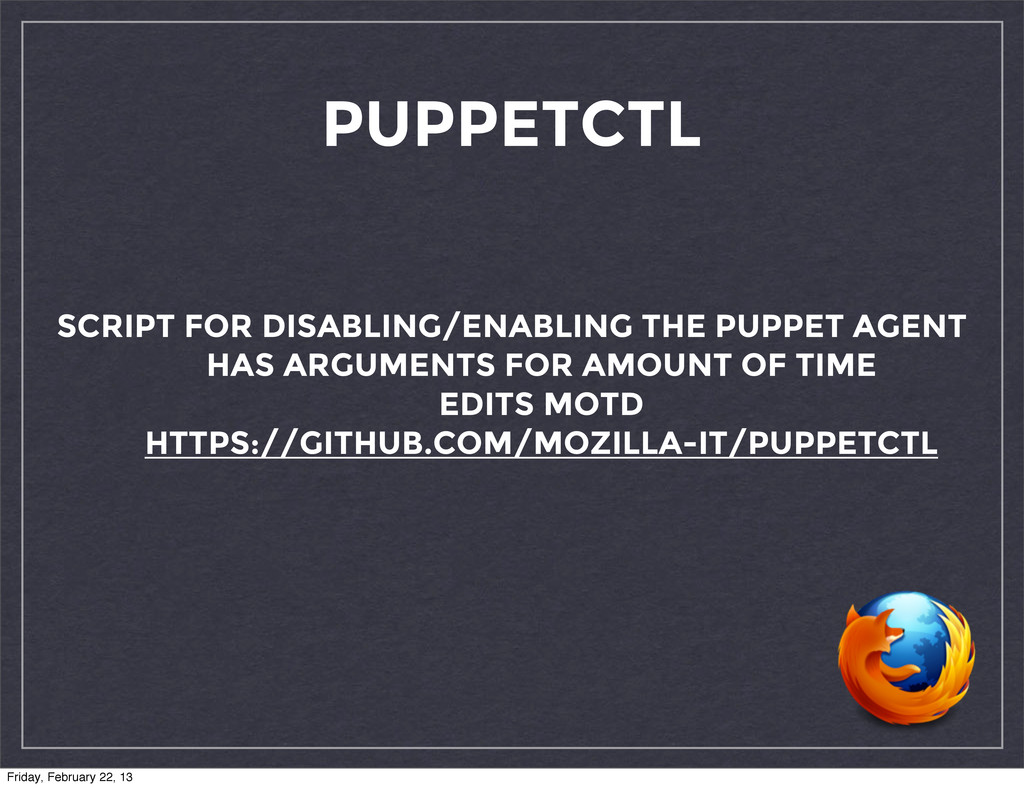 PUPPETCTL SCRIPT FOR DISABLING/ENABLING THE PUP...