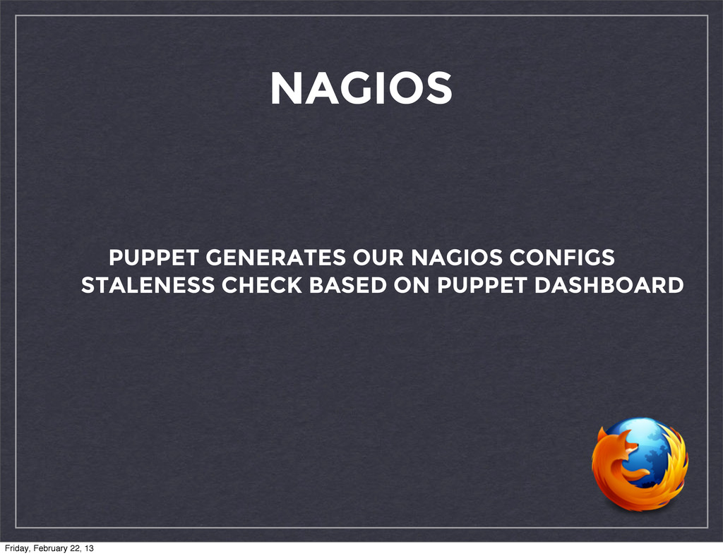 NAGIOS PUPPET GENERATES OUR NAGIOS CONFIGS STAL...