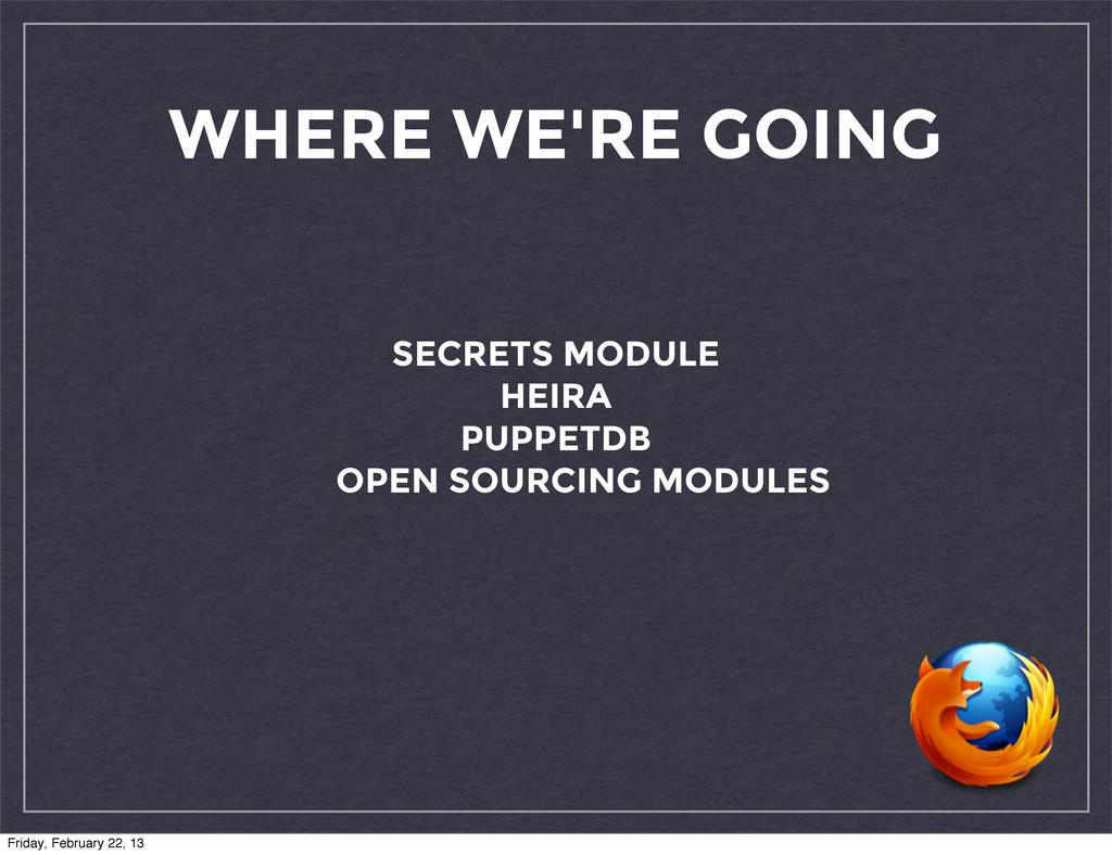 WHERE WE'RE GOING SECRETS MODULE HEIRA PUPPETDB...