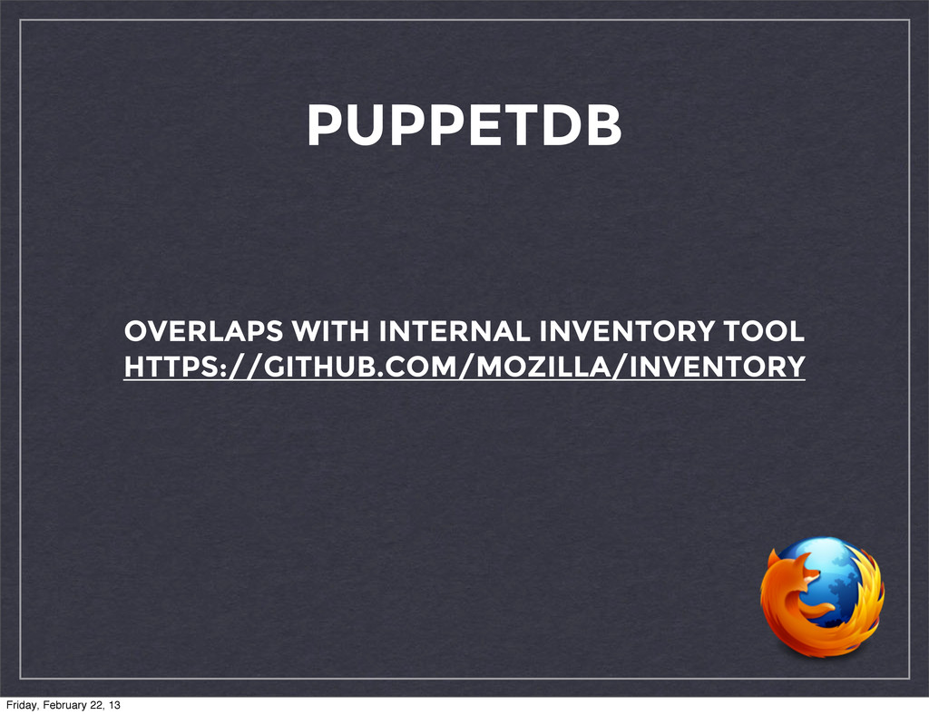 PUPPETDB OVERLAPS WITH INTERNAL INVENTORY TOOL ...