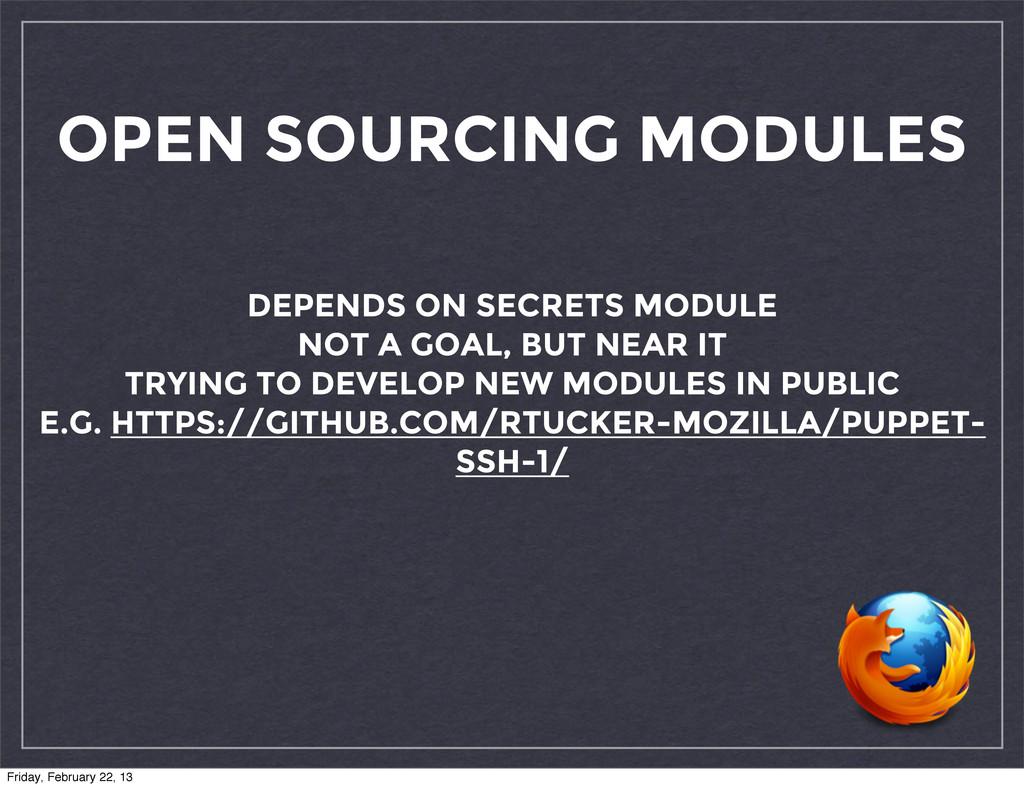 OPEN SOURCING MODULES DEPENDS ON SECRETS MODULE...