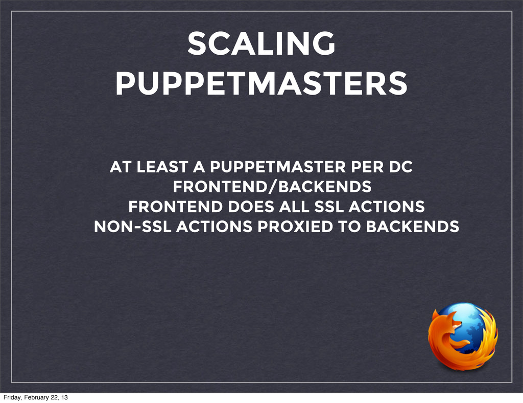 SCALING PUPPETMASTERS AT LEAST A PUPPETMASTER P...