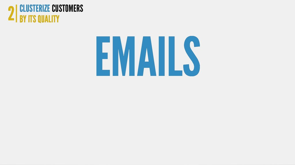EMAILS EMAILS 2 2 CLUSTERIZE CLUSTERIZE BY ITS ...
