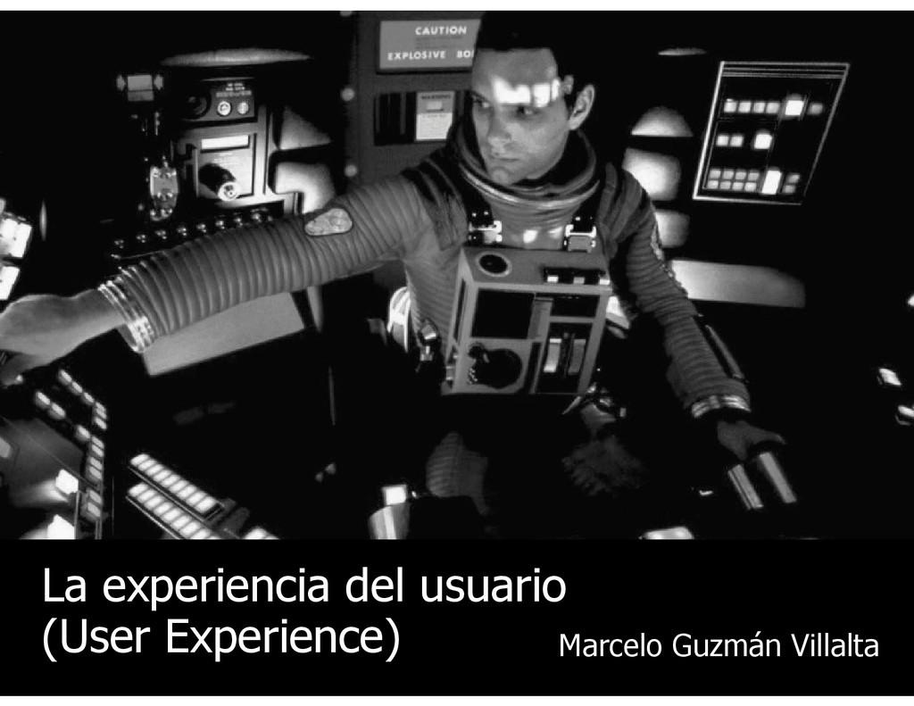 Marcelo Guzmán Villalta La experiencia del usua...