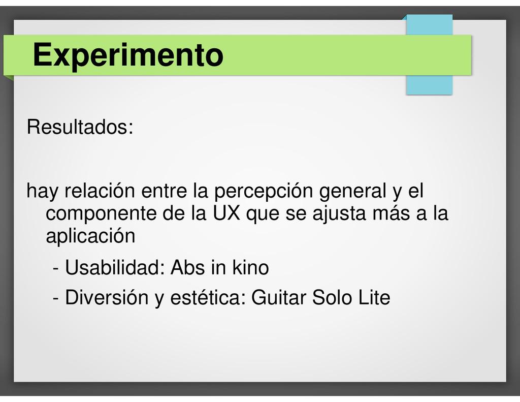 Resultados: hay relación entre la percepción ge...