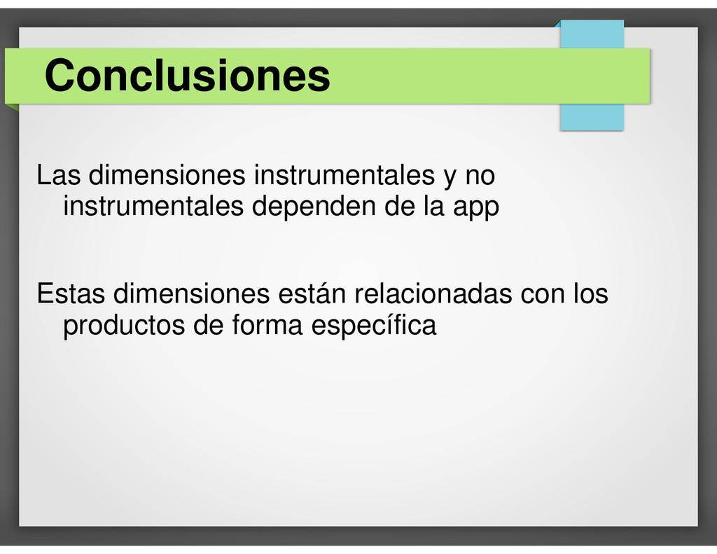 Las dimensiones instrumentales y no instrumenta...