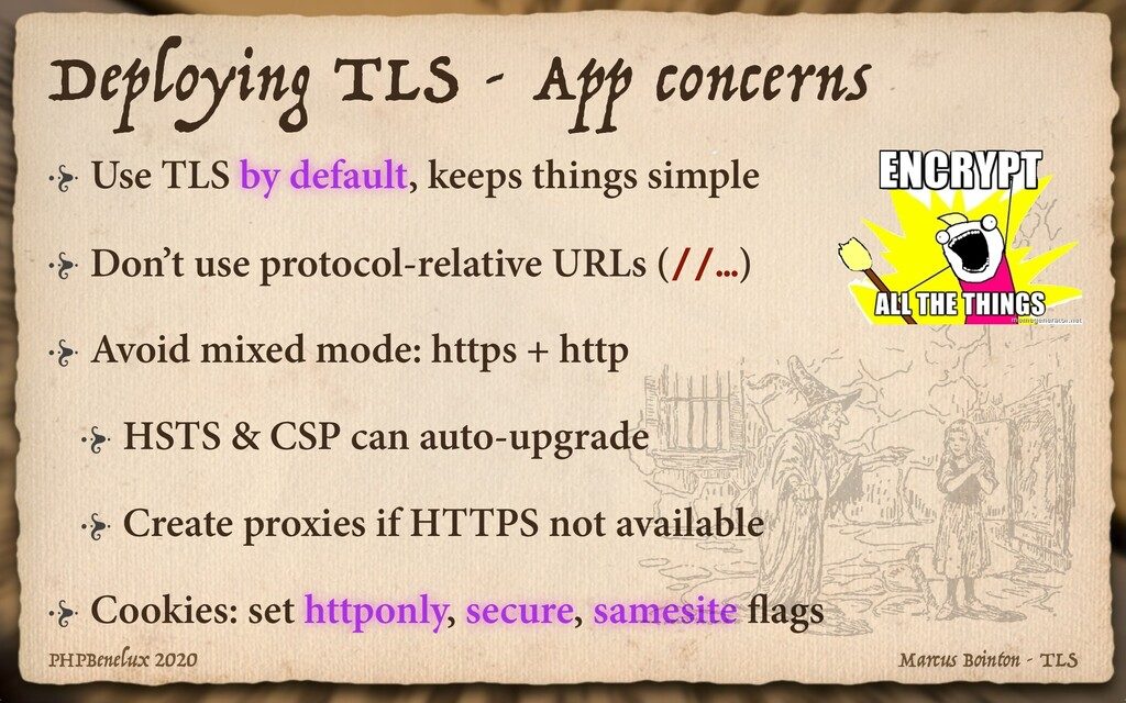 Marcus Bointon - TLS PHPBenelux 2020 Use TLS by...
