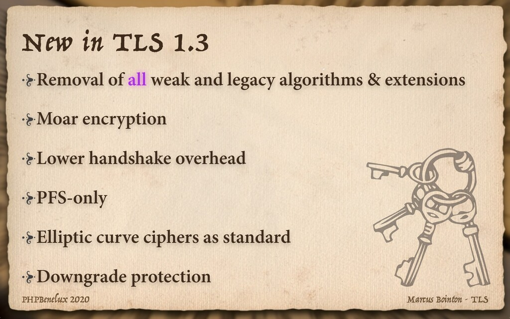 Marcus Bointon - TLS PHPBenelux 2020 New in TLS...