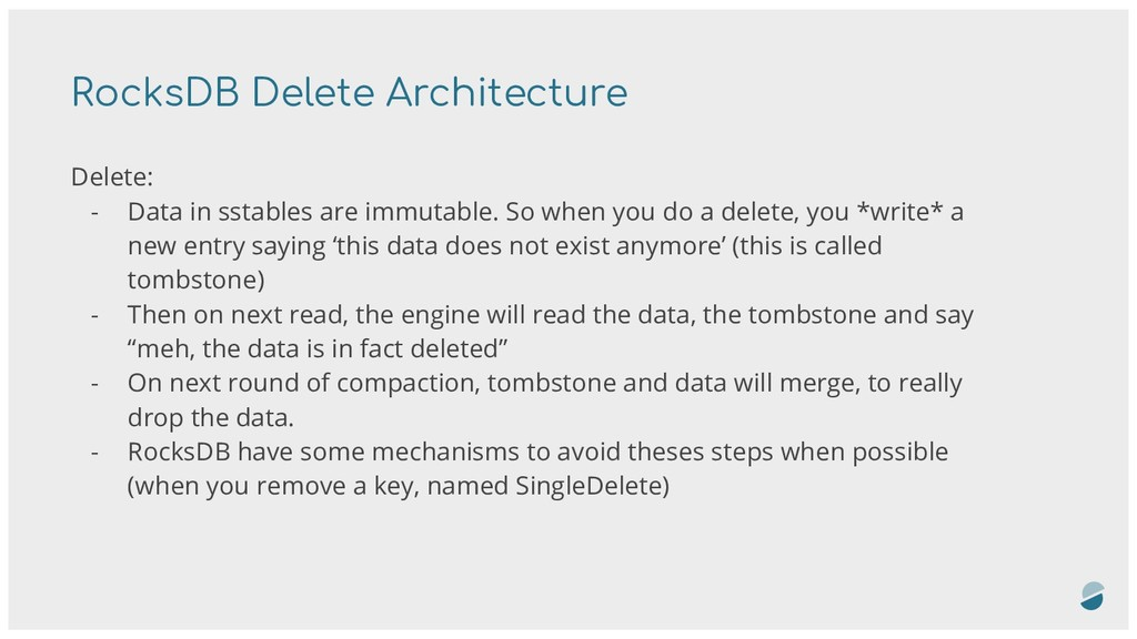 Delete: - Data in sstables are immutable. So wh...