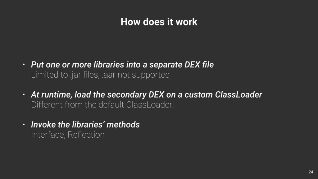 How does it work • Put one or more libraries in...