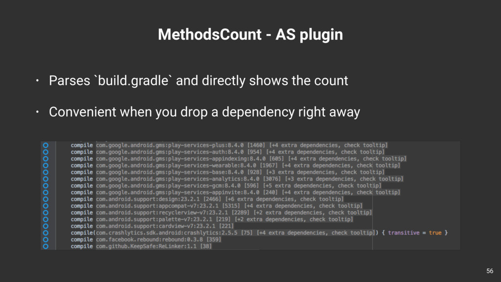 MethodsCount - AS plugin 56 • Parses `build.gra...