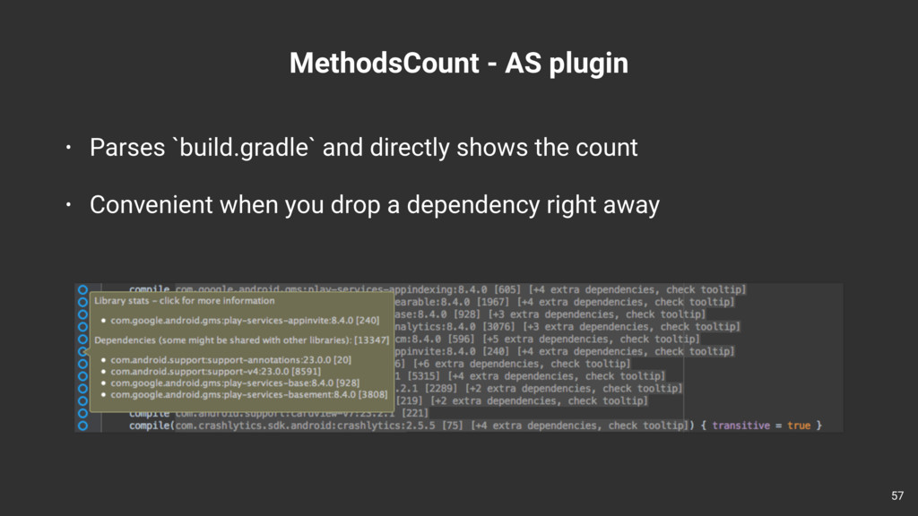 MethodsCount - AS plugin 57 • Parses `build.gra...