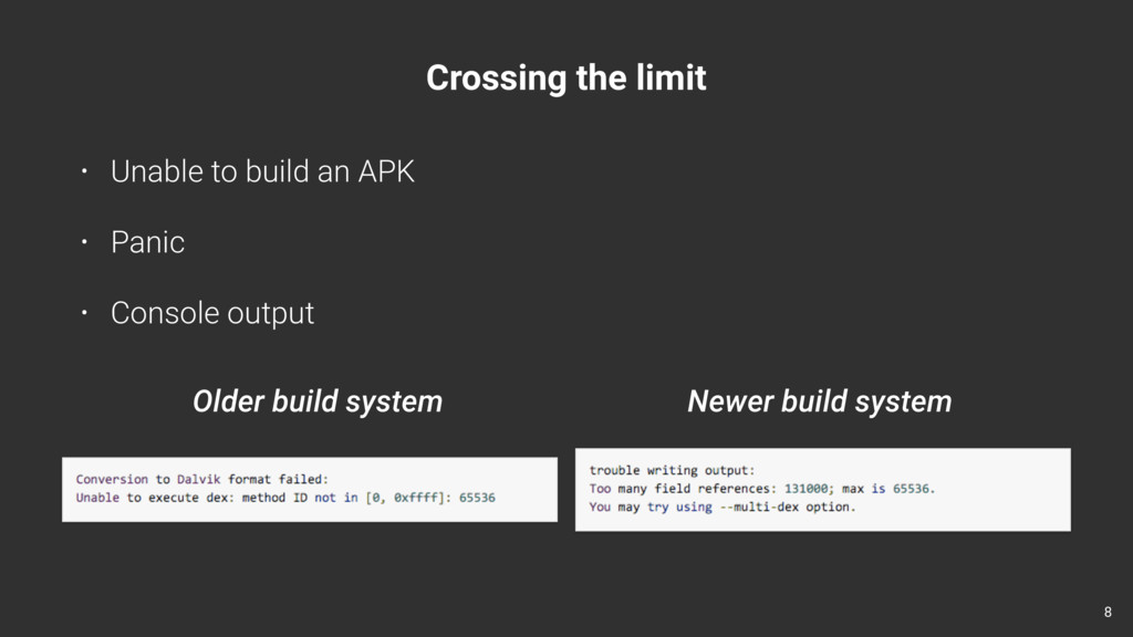 Crossing the limit • Unable to build an APK • P...