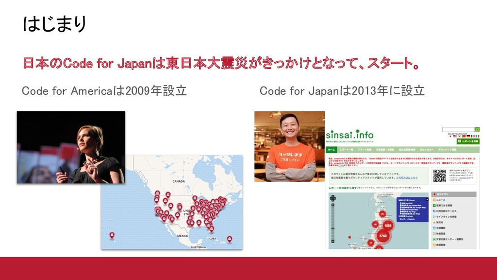 Code for Japanは2013年に設立
