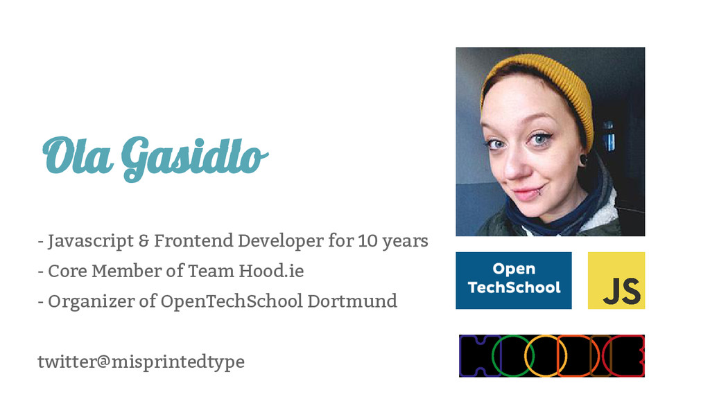 Ola Gasidlo - Javascript & Frontend Developer f...