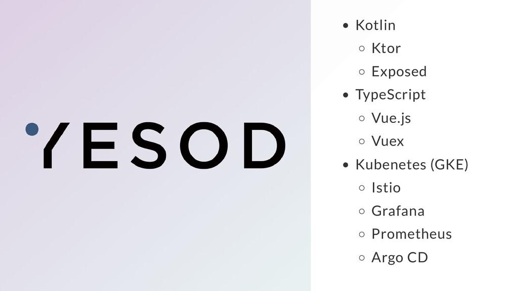 Kotlin Ktor Exposed TypeScript Vue.js Vuex Kube...