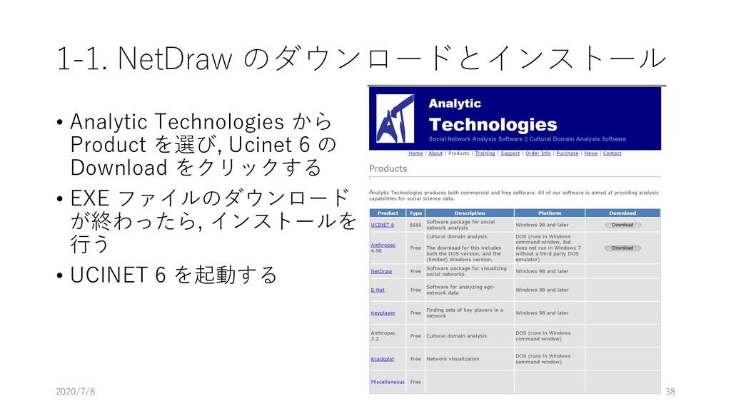 1-1. NetDraw のダウンロードとインストール • Analytic Technolo...