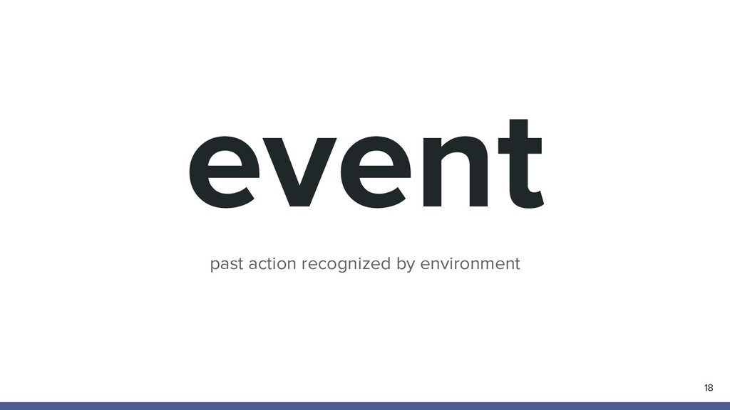 event 18 past action recognized by environment