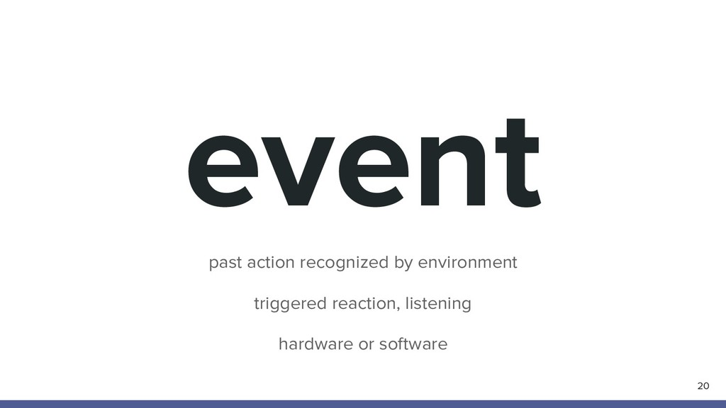 event 20 past action recognized by environment ...