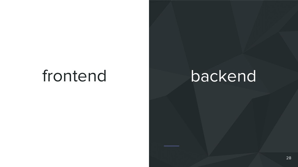 frontend 28 backend
