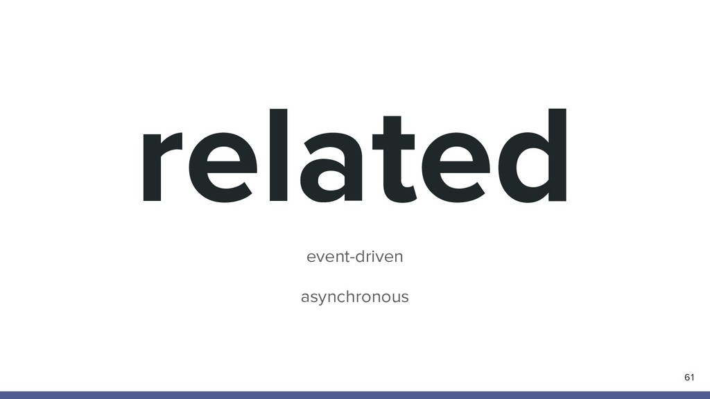 61 related event-driven asynchronous