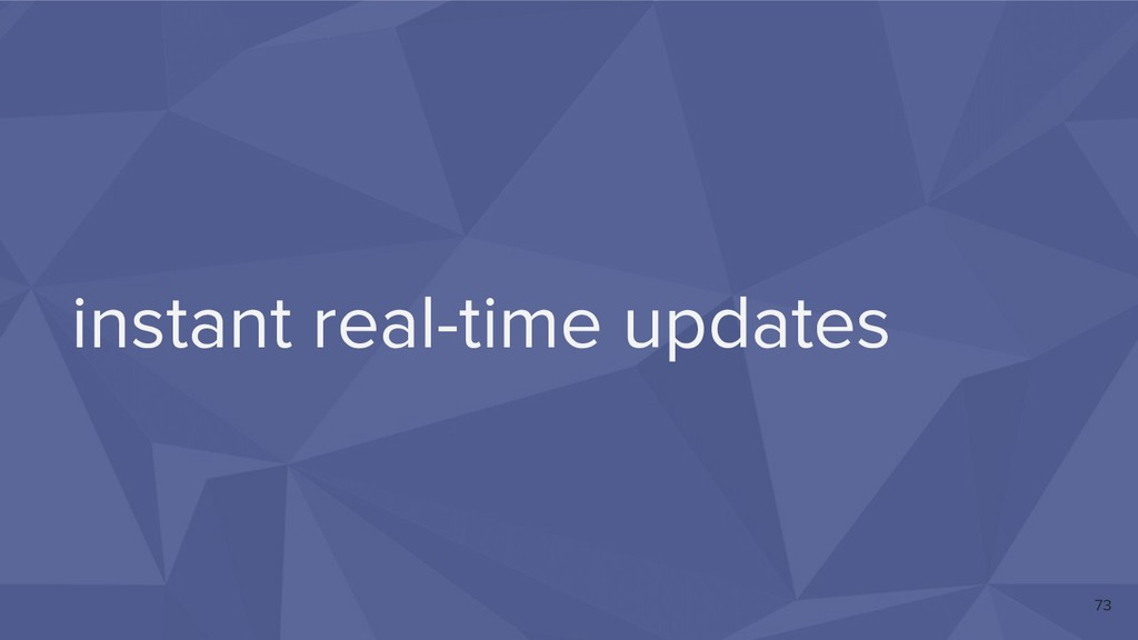 instant real-time updates 73