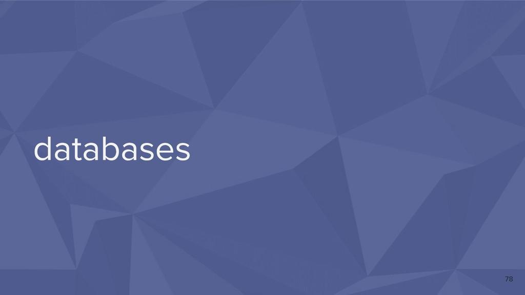 databases 78