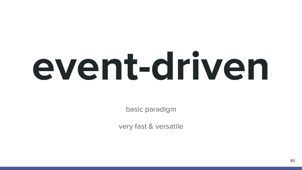 event-driven 90 basic paradigm very fast & vers...