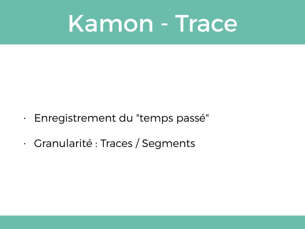 """Kamon - Trace • Enregistrement du """"temps passé""""..."""