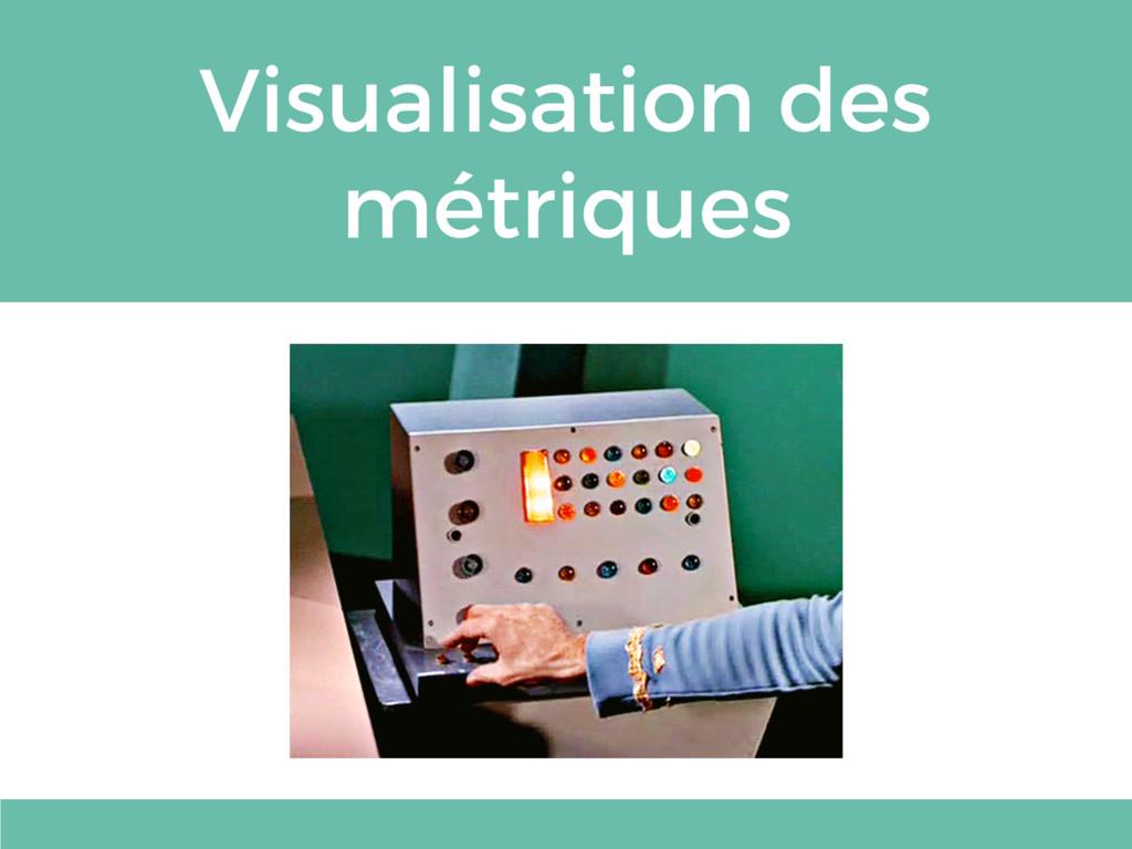 Visualisation des métriques