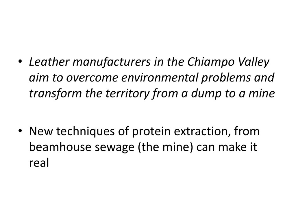 • Leather manufacturers in the Chiampo Valley a...