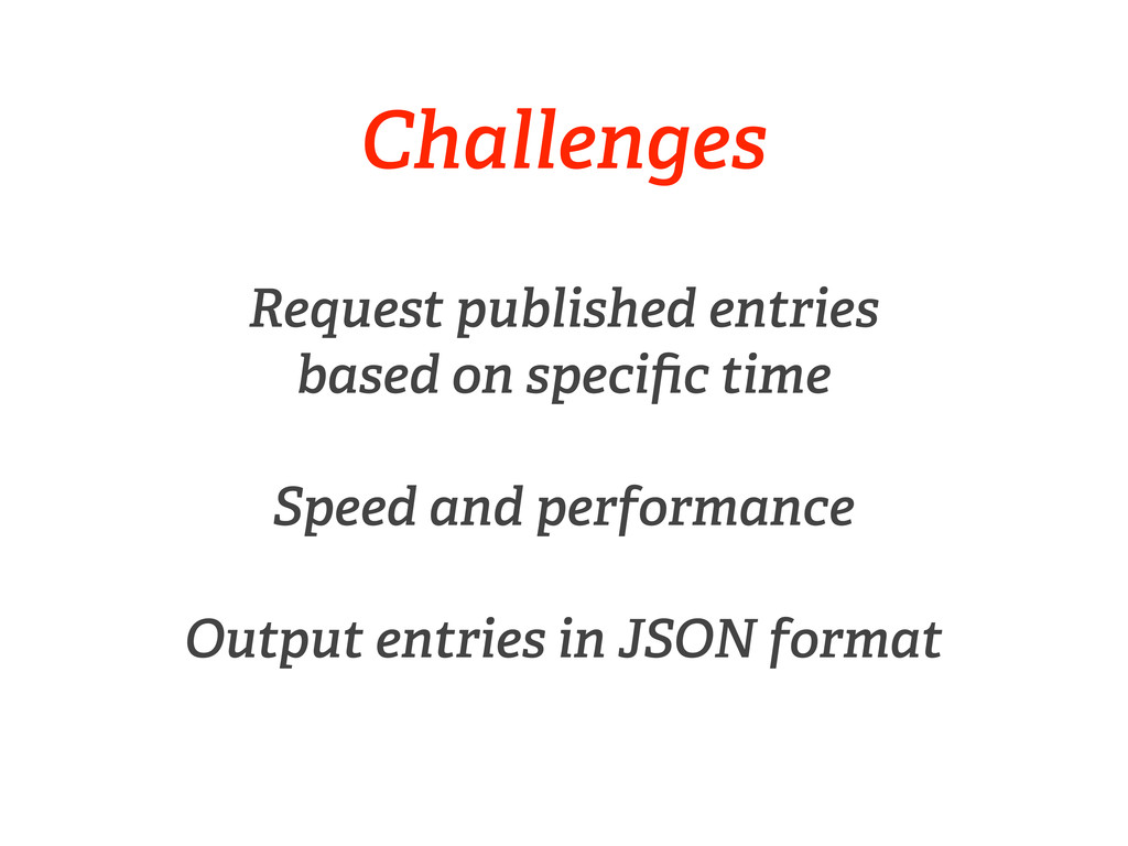 Challenges Request published entries based on s...