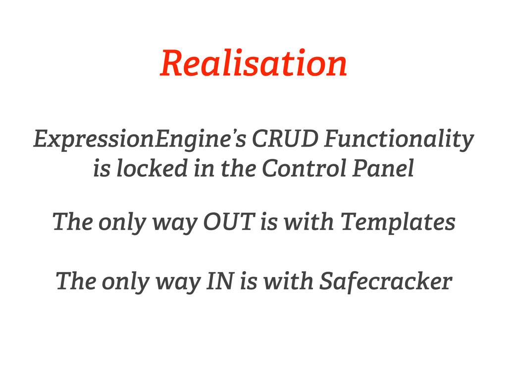 Realisation ExpressionEngine's CRUD Functionali...