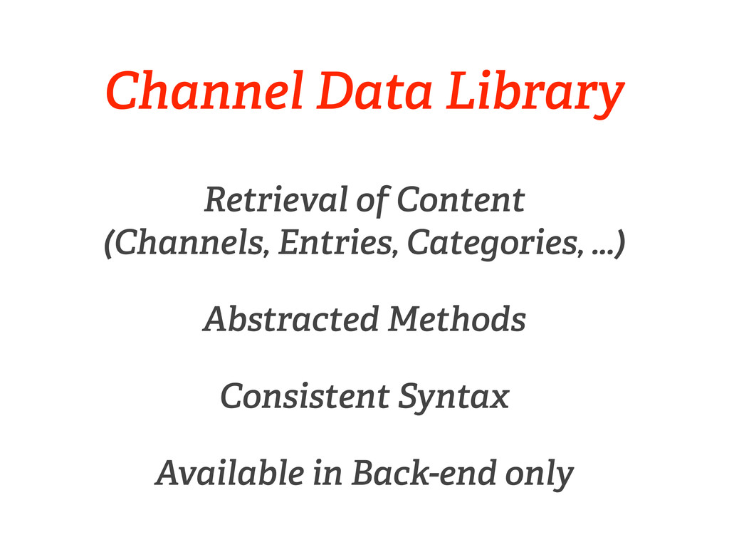 Channel Data Library Retrieval of Content (Chan...
