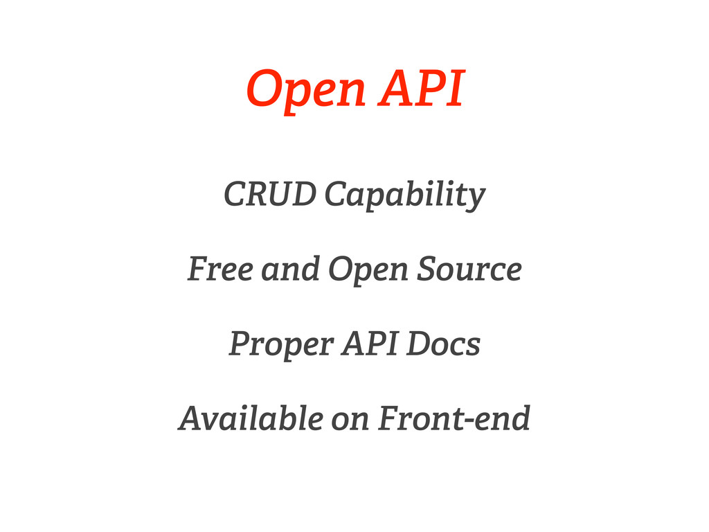Open API CRUD Capability Free and Open Source P...