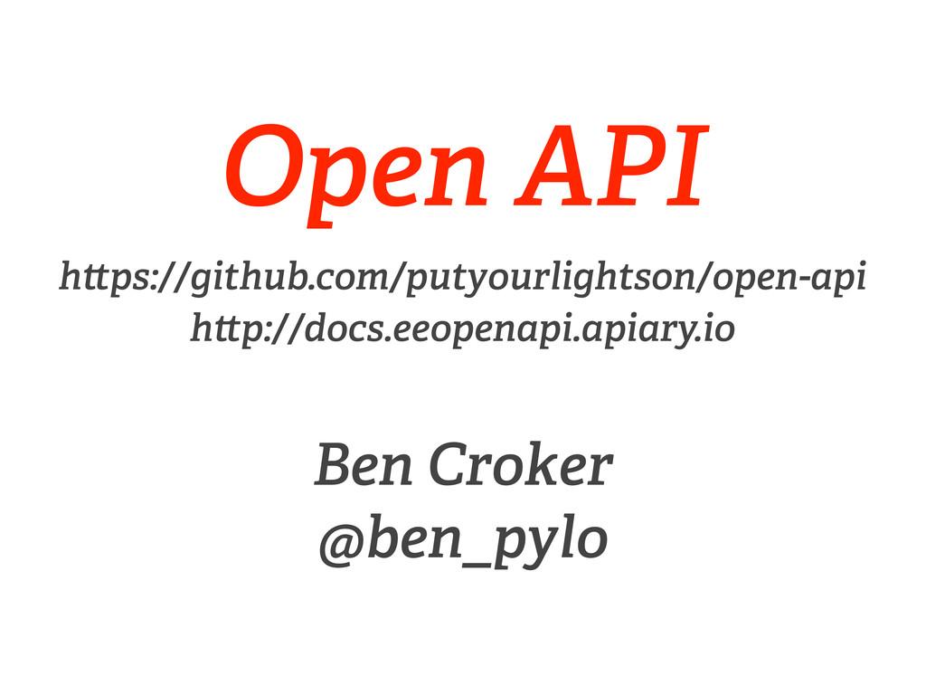 Open API h ps://github.com/putyourlightson/open...