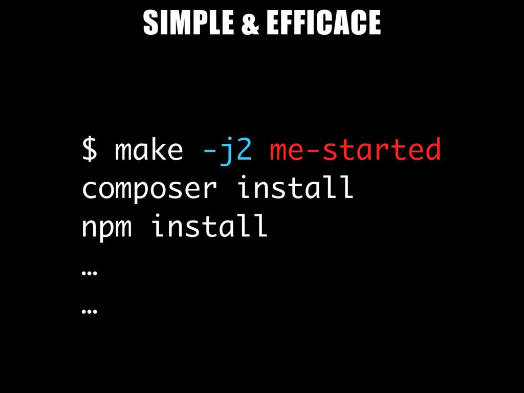 $ make -j2 me-started composer install npm inst...
