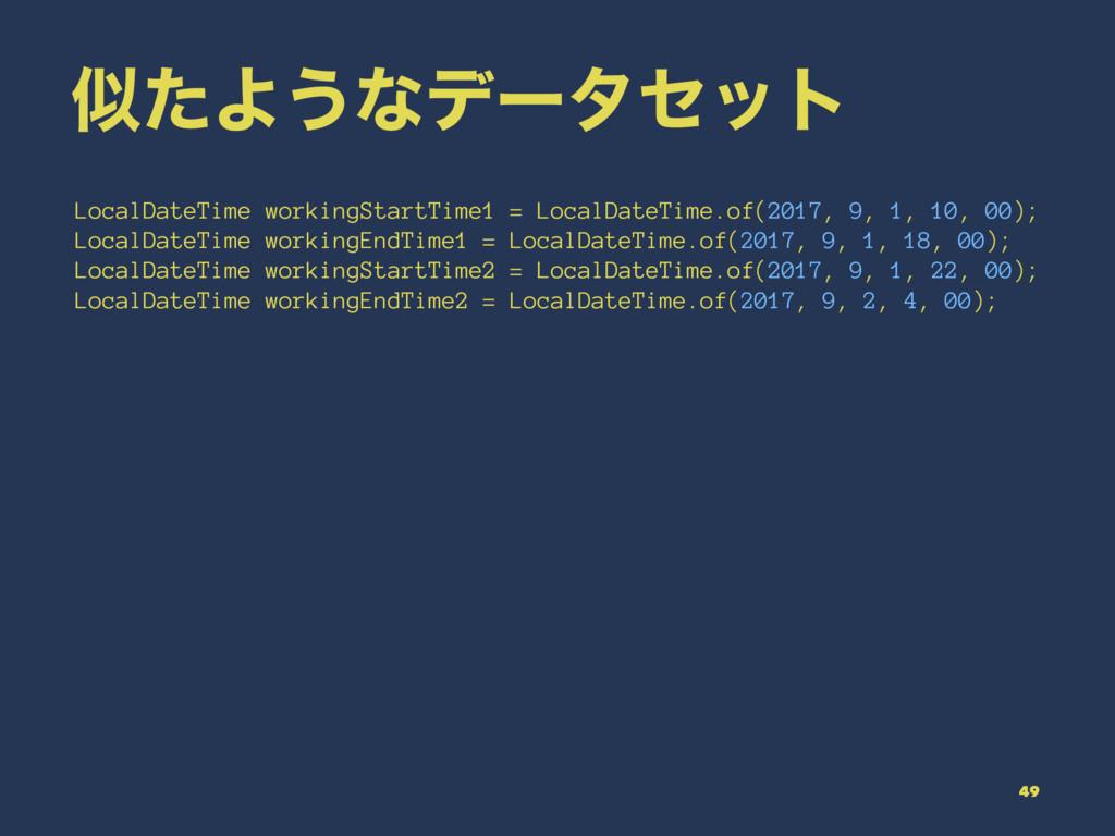 ͨΑ͏ͳσʔληοτ LocalDateTime workingStartTime1 = L...