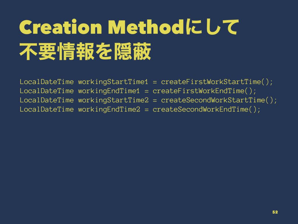 Creation Methodʹͯ͠ ෆཁใΛӅṭ LocalDateTime workin...
