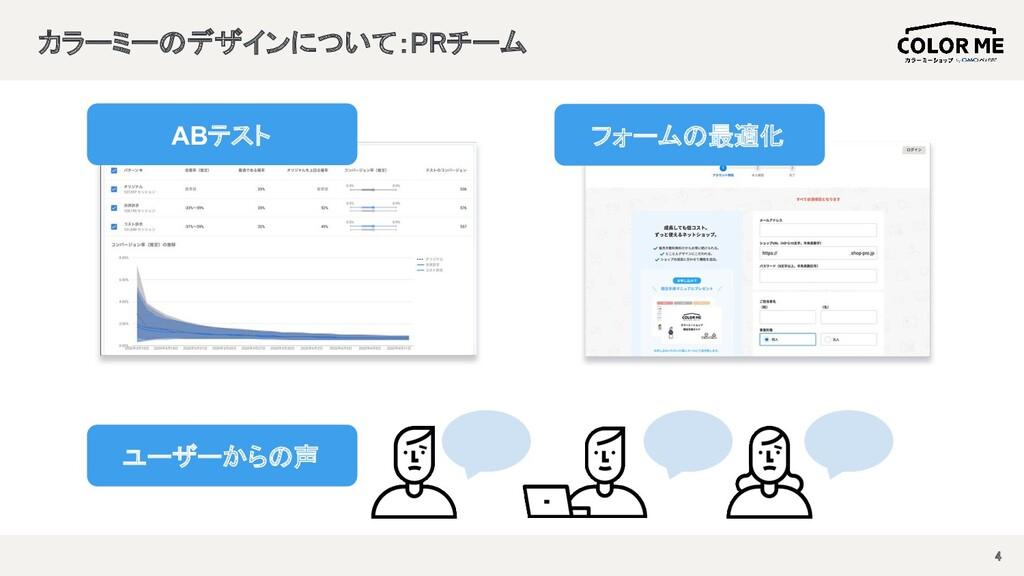 カラーミーのデザインについて:PRチーム  4 ABテスト フォームの最適化 ユーザーか...