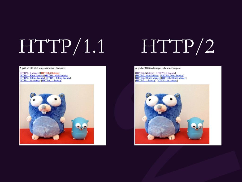 HTTP/1.1 HTTP/2
