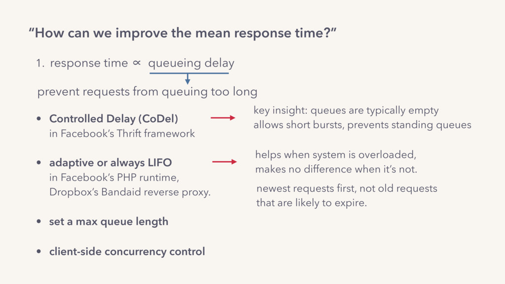 """""""How can we improve the mean response time?"""" 1...."""